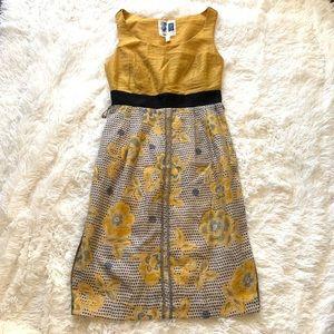 Anthro EDME & ESYLLTE yellow floral dress